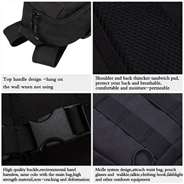 Wowelife Tactical Backpack 5 Wowelife Mini Tactical Backpack 10L Small Military Day Pack School Bag for Hunting Camping Trekking Travel