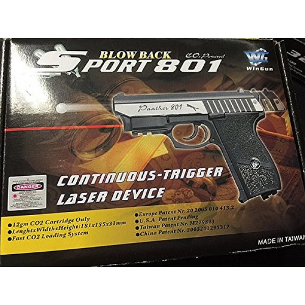 WinGun Airsoft Pistol 4 cbb-4801 WinGun full metal semi auto co2 blowback pistol with free safty shooting glasses and free target trip tent(Airsoft Gun)