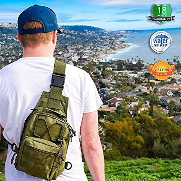 Rootless Tactical Backpack 5 Rootless Tactical MOLLE Military Sling Daypack - Small Messenger Bag
