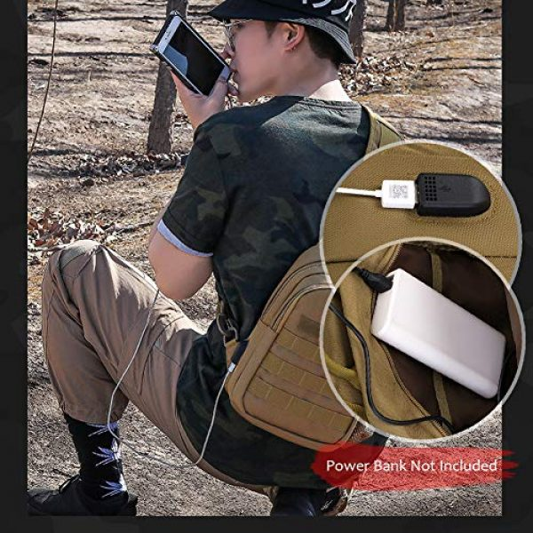 TEGOOL Tactical Backpack 7 Tactical Sling Bag,Chest Shoulder Small Backpack,Casual Satchel Day Pack