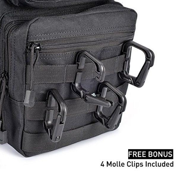 Weanas Tactical Backpack 2 Weanas Tactical Sling Bag Pack Military Rover Shoulder Sling Backpack Molle Assault Range Bag with 4 Tactical D-Ring Clips