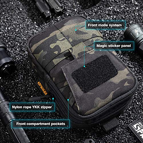 EXCELLENT ELITE SPANKER  5 EXCELLENT ELITE SPANKER Tactical Molle EDC Pouch Nylon Belt Waist Bag Camping Hiking Organizer with Cellphone Holster for iPhone 12Pro 12 11ProMax XsMax XR XS X 8Plus 8 7 6 Samsung Galaxy Note 9 S9