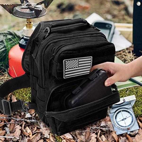 Monoki Tactical Backpack 4 Monoki Tactical Sling Backpack, Military Rover Shoulder Sling Bag Pack, Molle Assault Range Bag Day Pack