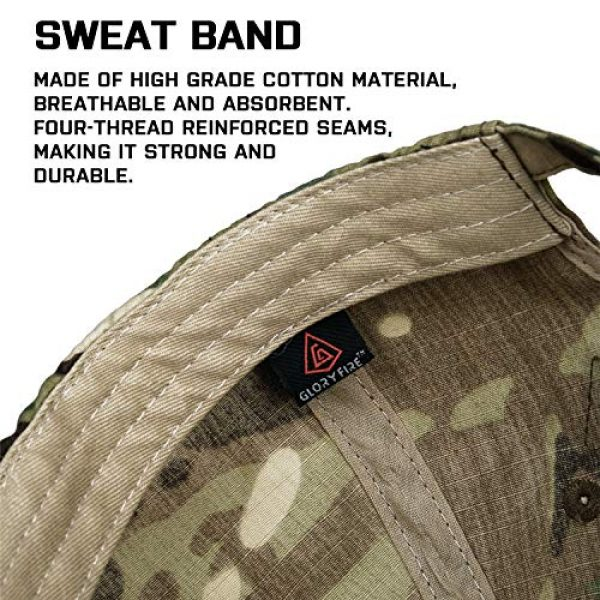 GLORYFIRE Tactical Hat 4 Tactical Hat Military Hat Camo Hat with 6 PCS Tactical Patches Adjustable Breathable Durable Cotton Camouflage Baseball Cap for Hiking Shooting Hunting and Other Outdoor Activities Suitable for Men