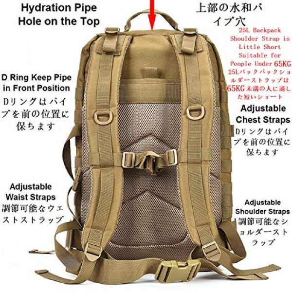 ATBP Tactical Backpack 2 ATBP Tactical Rucksack Backpack Military Hunting Hiking Daypack Large Army Molle Backpack