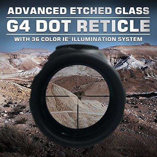 Leapers Rifle Scope 5 Leapers SCP3-UG832G4 Inc, UTG 8-32x56mm, 30Mmx 40mm, AO, 36 Color IE, G4 Dot Reticle, Black