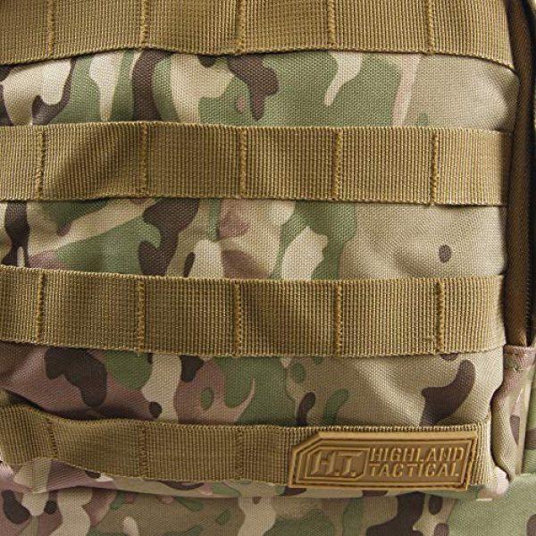 HIGHLAND TACTICAL Tactical Backpack 7 Highland Tactical Men's Basecamp Heavy Duty Tactical Backpack