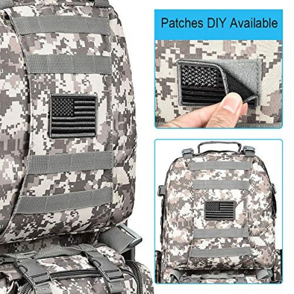 CVLIFE Tactical Backpack 4 CVLIFE Tactical Backpack Military Army Rucksack Assault Pack Built-up Molle Bag