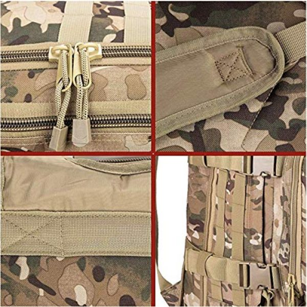 Scorpion Tactics Tactical Backpack 7 Scorpion Tactics Expandable Outdoor Large Backpack Tactical Backpack Army Assault Rucksack Pack Bug Out Bag TAN ST-LAB202006