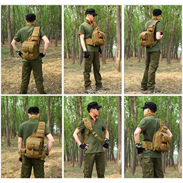 Huntvp Tactical Backpack 6 Huntvp Tactical Military Sling Pack Chest Daypack Molle Backpack Shoulder Bag