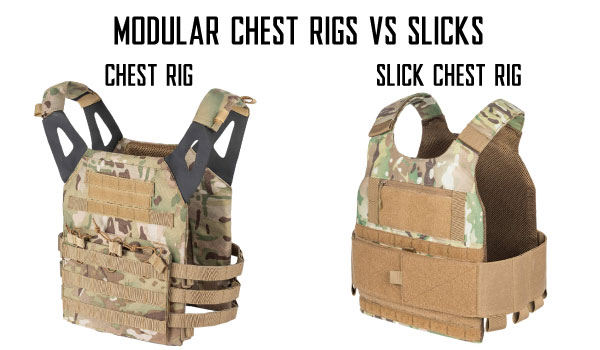 Airsoft Modular Chest Rig Vests and Slick Vests