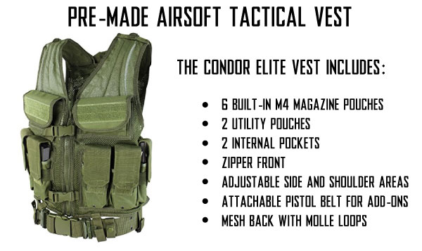 Condor Elite Tactical Vests and Pre-Made Tactical Airsoft Vests