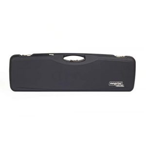 Negrini Cases Rifle Case 1 Negrini Cases 1654LR/5165 O/U Sporter Shotgun Case with Barrel Upright and Forend Off/Accessory Compartment and Luxury Interior, Blue/Blue