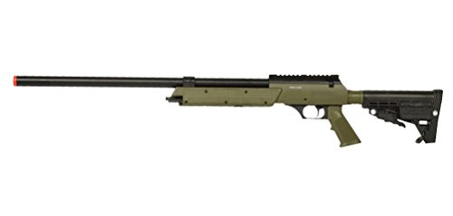 Well  1 Well Spec-Ops APS SR-2 Spring Powered Airsoft Sniper Rifle Gun FPS 500 (Green)