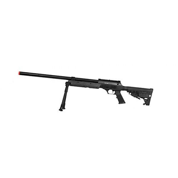 Well Airsoft Rifle 1 Well SPEC-OPS MB13A APS SR-2 Bolt Action Sniper Rifle Airsoft Gun (Black/Bipod Package)