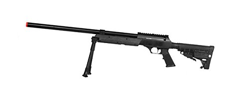 Well  1 Well SPEC-OPS MB13A APS SR-2 Bolt Action Sniper Rifle Airsoft Gun (Black/Bipod Package)