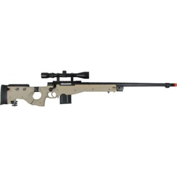 Prima USA Airsoft Rifle 2 well l96 heavy single bolt action spring airsoft sniper rifle with scope tan(Airsoft Gun)
