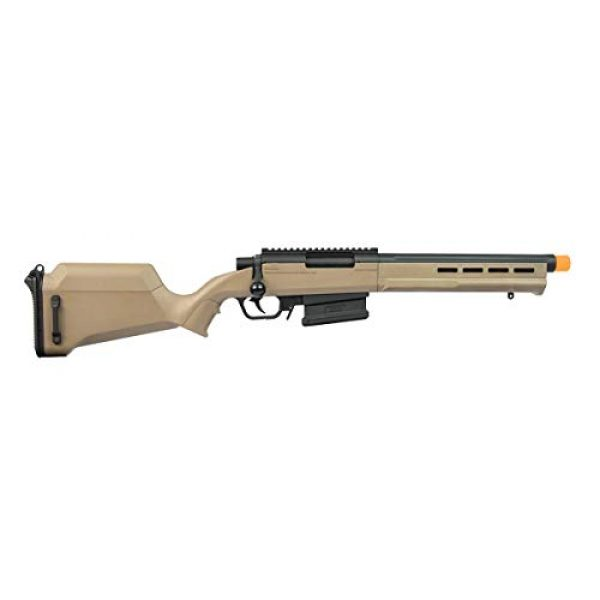 Elite Force Airsoft Rifle 1 Elite Force Amoeba AS-02 Striker Rifle 6mm BB Sniper Rifle Airsoft Gun, Dark Earth Brown