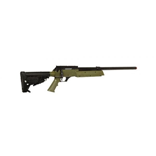 Well Airsoft Rifle 4 Well Spec-Ops APS SR-2 Spring Powered Airsoft Sniper Rifle Gun FPS 500 (Green)