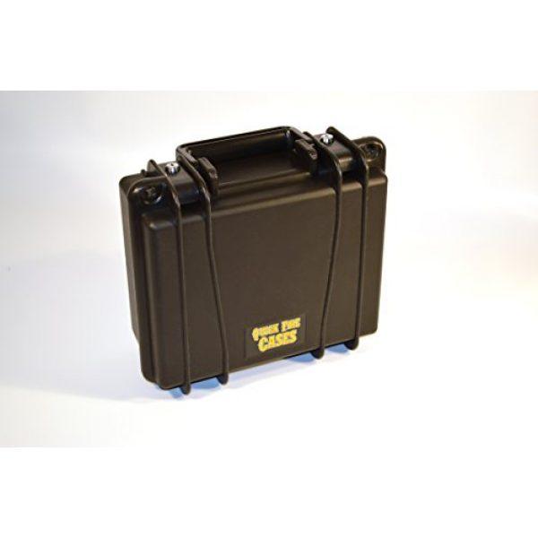 Quick Fire Cases Pistol Case 4 Quick Fire Cases QF300G4L Pistol Case, Black, Small