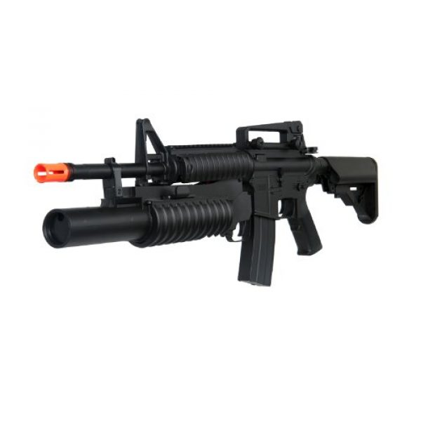 Boyi Dboys Airsoft Rifle 1 m3181ab m4a1 Carbine with m203 Grenade Launcher, 2 mags, 2 Adjustable Stocks, 2 handguards, Tactical Flashlight(Airsoft Gun)