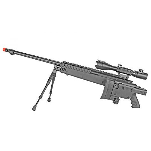 BBTac Airsoft Rifle 3 BBTac Well MB04 G-22 AWM Airsoft Sniper Rifle with 3-9 x 40 Scope and Bi-Pod