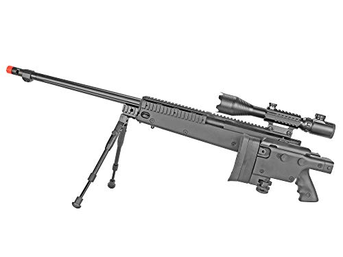 BBTac  3 BBTac Well MB04 G-22 AWM Airsoft Sniper Rifle with 3-9 x 40 Scope and Bi-Pod