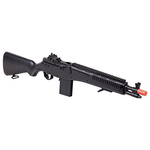 Game Face Airsoft Rifle 1 GameFace GFASM14B M14 Spring-Powered Single-Shot Bolt Action Infantry Carbine Airsoft Rifle, Black