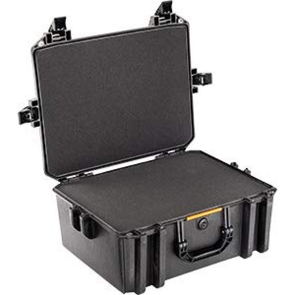 Pelican Pistol Case 2 Vault by Pelican - V550 Pistol/Equipment Case with Foam (Black)