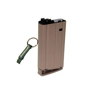 WE Airsoft Gun Magazine 1 WE 31rds Airsoft Gas Magazine Scar-H Series GBB Tan -Mobile Ring Included