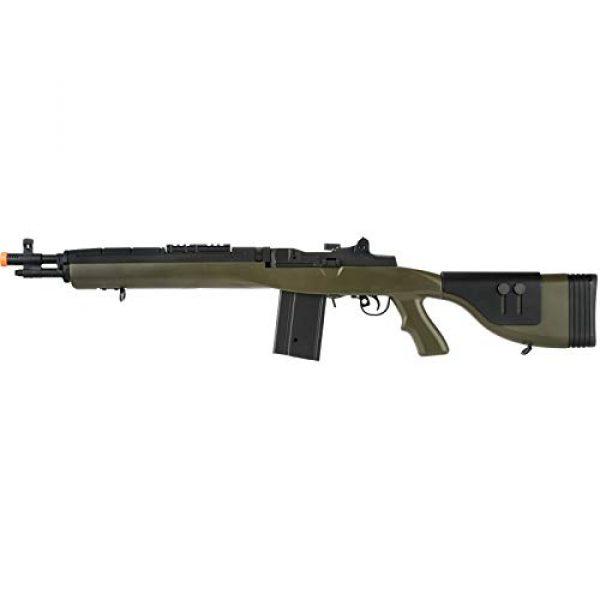 "Lancer Tactical Airsoft Rifle 1 Lancer Tactical LT-732 DMR Stock 38"" M14 SOCOM Airsoft AEG Rifle OD Green"