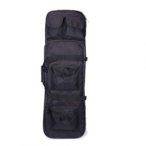 Yamcyh  1 Yamcyh Tactical Rifle Case Rifle Shotgun Soft Case Outdoor Military Rifle Hunting Backpack Airsoft Nylon Square Carry Dual Rifle Bag Gun Protection Case (Black