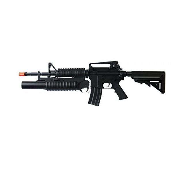 Boyi Dboys Airsoft Rifle 3 m3181ab m4a1 Carbine with m203 Grenade Launcher, 2 mags, 2 Adjustable Stocks, 2 handguards, Tactical Flashlight(Airsoft Gun)