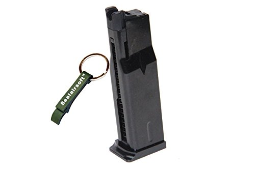 WE  1 WE 15rds Airsoft Gas Magazine MAKAROV PMM Series GBB Black -Mobile Ring Included