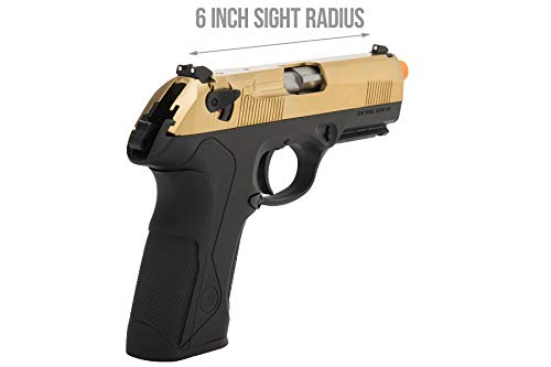 Lancer Tactical  5 Lancer Tactical WE Bulldog Full Size Full Metal Gas Blowback Airsoft Pistol Titanium Gold 280 FPS