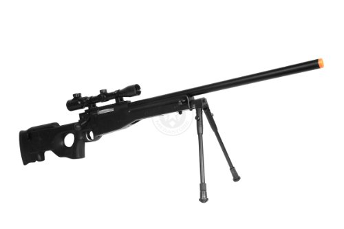 Well  2 de airsoft shadow ops mk96 bolt action sniper rifle w/ bipod and scope(Airsoft Gun)
