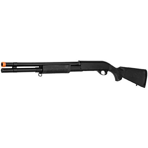 Lancer Tactical  3 Lancer Tactical Long M870 Shell Loading TriShot Airsoft Shotgun Black