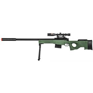 Lancer Tactical Airsoft Rifle 1 300 FPS - Airsoft Sniper Spring Rifle Gun with Scope and Laser