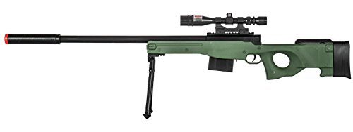 Lancer Tactical  1 300 FPS - Airsoft Sniper Spring Rifle Gun with Scope and Laser