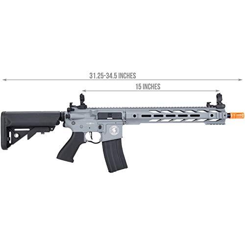 Lancer Tactical  2 Lancer Tactical LT-25 ProLine Series M4 SPR Interceptor Airsoft AEG Rifle HIGH FPS Gray 395 FPS
