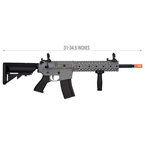 "Lancer Tactical Airsoft Rifle 2 Lancer Tactical New Gen EVO 13.5"" Barrel Free Float M4 Airsoft AEG (QuadRail_Gray)"