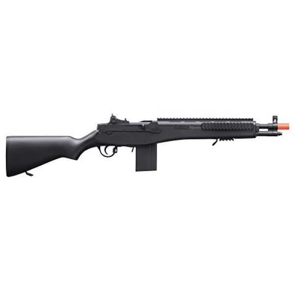 Game Face Airsoft Rifle 2 GameFace GFASM14B M14 Spring-Powered Single-Shot Bolt Action Infantry Carbine Airsoft Rifle, Black
