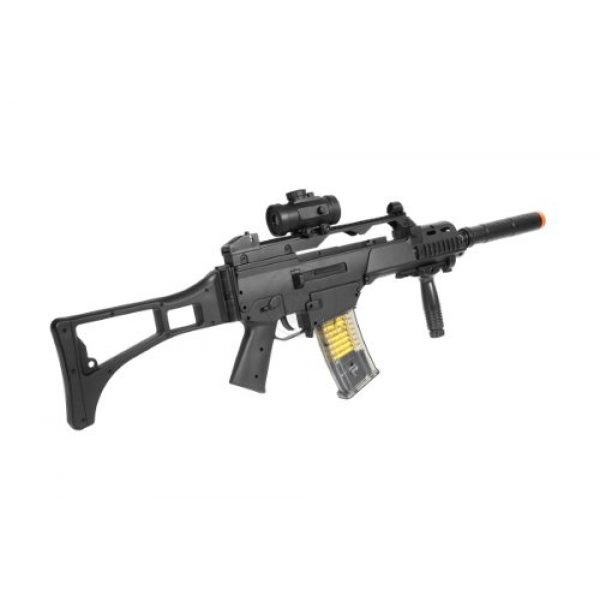 TAC Airsoft Rifle 5 DE R36C TacSpec Electric AEG Rifle w/Flashlight and Red Dot Scope