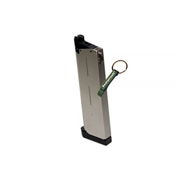 KJW Airsoft Gun Magazine 2 KJ Works 26rds Airsoft Metal 6mm GAS Magazine For KP07 MEU GBB -Mobile Ring Included