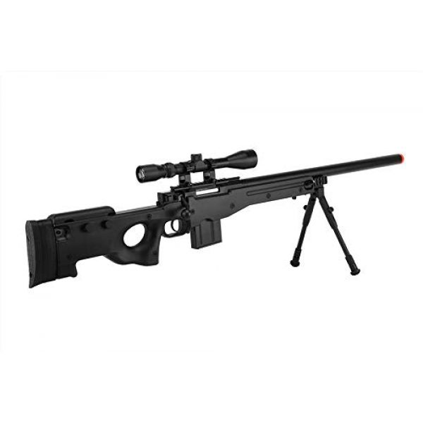 Well Airsoft Rifle 1 Well MB4401D Airsoft Sniper Rifle W/Scope and Bipod - Black