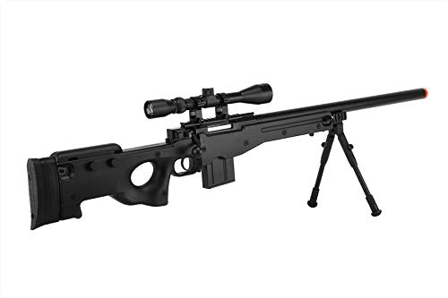Well  1 Well MB4401D Airsoft Sniper Rifle W/Scope and Bipod - Black