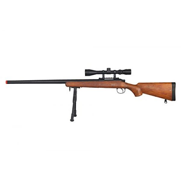 Well Airsoft Rifle 1 Well VSR-10 Bolt Action Airsoft Rifle w/Scope And Bipod (Wood/Long)