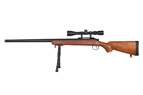 Well  1 Well VSR-10 Bolt Action Airsoft Rifle w/Scope And Bipod (Wood/Long)