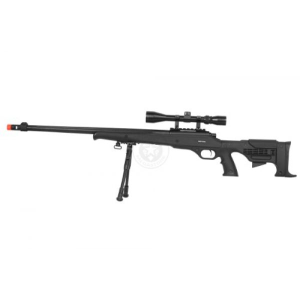 Airgunplace Airsoft Rifle 3 wellfire mb11d full metal bolt action sniper rifle w/ scope and bipod(Airsoft Gun)