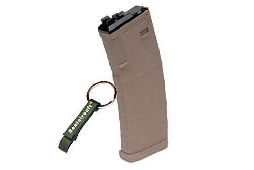 WE  1 WE 30rds Airsoft Gas Magazine MSK/ACR MUSOKEN GBB Tan -Mobile Ring Included